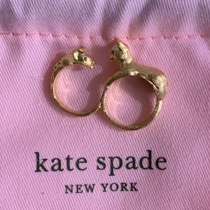 Kate spade House Cat and Mouse Double Ring New